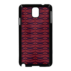 Repeated Tapestry Pattern Abstract Repetition Samsung Galaxy Note 3 Neo Hardshell Case (Black)
