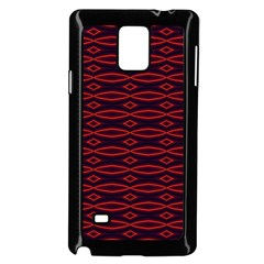 Repeated Tapestry Pattern Abstract Repetition Samsung Galaxy Note 4 Case (black)