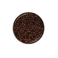 Brown Box Background Pattern Hat Clip Ball Marker (4 Pack)