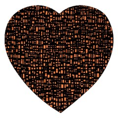 Brown Box Background Pattern Jigsaw Puzzle (heart) by Nexatart