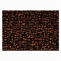 Brown Box Background Pattern Large Glasses Cloth by Nexatart