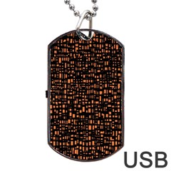 Brown Box Background Pattern Dog Tag Usb Flash (one Side)