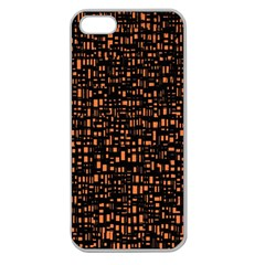Brown Box Background Pattern Apple Seamless Iphone 5 Case (clear)