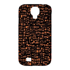 Brown Box Background Pattern Samsung Galaxy S4 Classic Hardshell Case (pc+silicone)