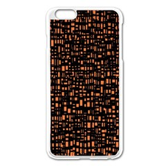 Brown Box Background Pattern Apple Iphone 6 Plus/6s Plus Enamel White Case