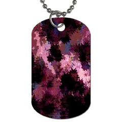 Grunge Purple Abstract Texture Dog Tag (two Sides) by Nexatart