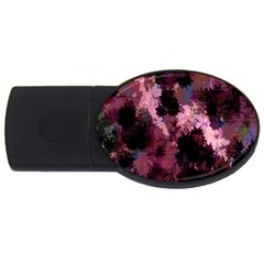 Grunge Purple Abstract Texture Usb Flash Drive Oval (2 Gb)
