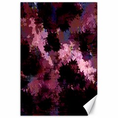 Grunge Purple Abstract Texture Canvas 20  X 30   by Nexatart