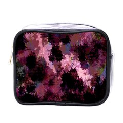 Grunge Purple Abstract Texture Mini Toiletries Bags