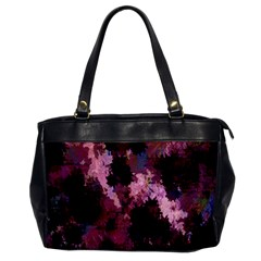 Grunge Purple Abstract Texture Office Handbags by Nexatart