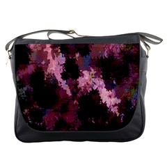 Grunge Purple Abstract Texture Messenger Bags