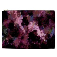 Grunge Purple Abstract Texture Cosmetic Bag (xxl)  by Nexatart