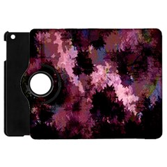 Grunge Purple Abstract Texture Apple Ipad Mini Flip 360 Case