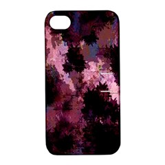 Grunge Purple Abstract Texture Apple Iphone 4/4s Hardshell Case With Stand by Nexatart
