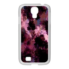 Grunge Purple Abstract Texture Samsung Galaxy S4 I9500/ I9505 Case (white) by Nexatart