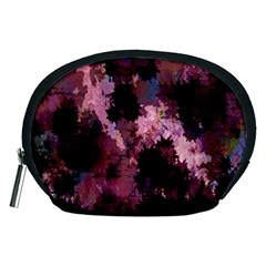 Grunge Purple Abstract Texture Accessory Pouches (medium)