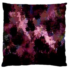 Grunge Purple Abstract Texture Large Flano Cushion Case (one Side) by Nexatart