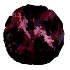 Grunge Purple Abstract Texture Large 18  Premium Flano Round Cushions by Nexatart