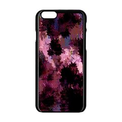 Grunge Purple Abstract Texture Apple Iphone 6/6s Black Enamel Case by Nexatart