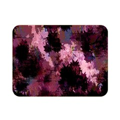 Grunge Purple Abstract Texture Double Sided Flano Blanket (mini)