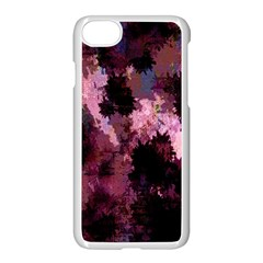 Grunge Purple Abstract Texture Apple Iphone 7 Seamless Case (white)