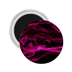 Abstract Pink Smoke On A Black Background 2 25  Magnets by Nexatart
