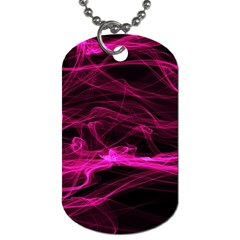 Abstract Pink Smoke On A Black Background Dog Tag (two Sides) by Nexatart