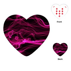 Abstract Pink Smoke On A Black Background Playing Cards (heart)