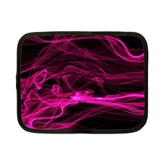 Abstract Pink Smoke On A Black Background Netbook Case (small)  by Nexatart