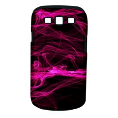 Abstract Pink Smoke On A Black Background Samsung Galaxy S Iii Classic Hardshell Case (pc+silicone)