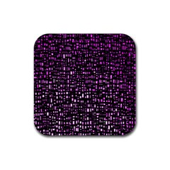 Purple Denim Background Pattern Rubber Square Coaster (4 Pack)  by Nexatart