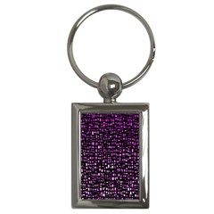 Purple Denim Background Pattern Key Chains (rectangle)