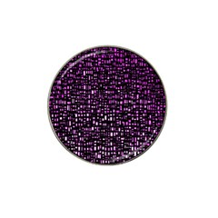 Purple Denim Background Pattern Hat Clip Ball Marker (4 Pack) by Nexatart