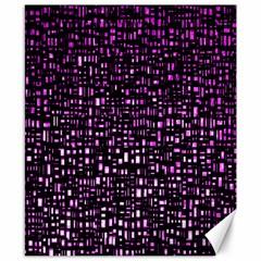 Purple Denim Background Pattern Canvas 8  X 10
