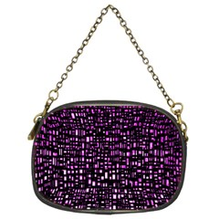 Purple Denim Background Pattern Chain Purses (two Sides)