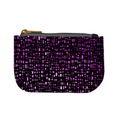 Purple Denim Background Pattern Mini Coin Purses by Nexatart