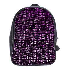Purple Denim Background Pattern School Bags(large)  by Nexatart