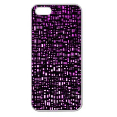 Purple Denim Background Pattern Apple Seamless Iphone 5 Case (clear)
