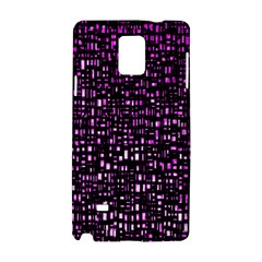 Purple Denim Background Pattern Samsung Galaxy Note 4 Hardshell Case