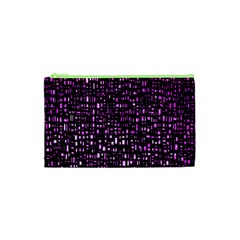 Purple Denim Background Pattern Cosmetic Bag (xs)