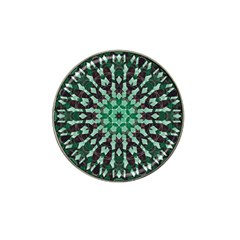 Abstract Green Patterned Wallpaper Background Hat Clip Ball Marker (4 Pack) by Nexatart