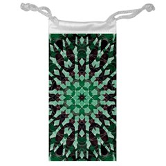 Abstract Green Patterned Wallpaper Background Jewelry Bag by Nexatart