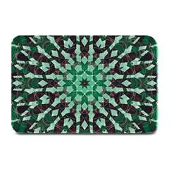 Abstract Green Patterned Wallpaper Background Plate Mats by Nexatart