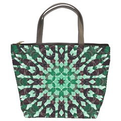 Abstract Green Patterned Wallpaper Background Bucket Bags by Nexatart