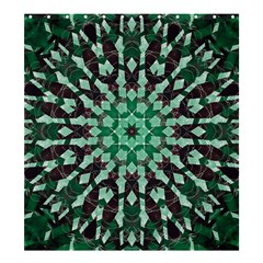 Abstract Green Patterned Wallpaper Background Shower Curtain 66  X 72  (large)  by Nexatart