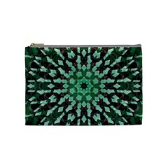 Abstract Green Patterned Wallpaper Background Cosmetic Bag (medium)  by Nexatart