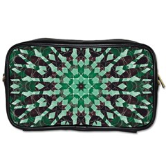 Abstract Green Patterned Wallpaper Background Toiletries Bags by Nexatart