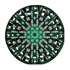 Abstract Green Patterned Wallpaper Background Ornament (round Filigree) by Nexatart