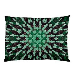 Abstract Green Patterned Wallpaper Background Pillow Case (two Sides) by Nexatart