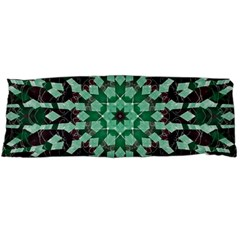 Abstract Green Patterned Wallpaper Background Body Pillow Case Dakimakura (two Sides)